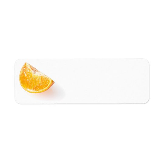 Orange fruit return address label