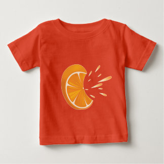 Orange Fruit Slice on Baby Fine Jersey T-Shirt