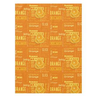 Orange Fruit Slices Typo - Tablecloth