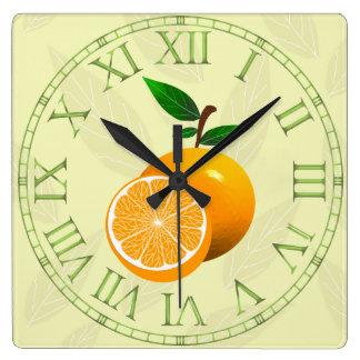 Orange Fruit Wallclocks
