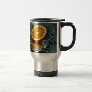 Orange Fruits Stainless Steel Travel Mug