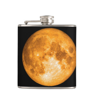 orange full moon flask