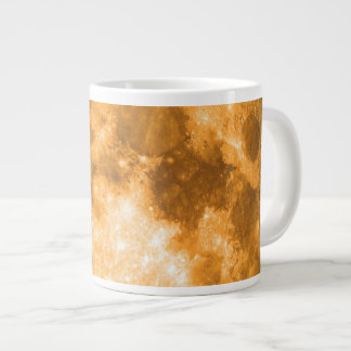 orange full moon giant coffee mug