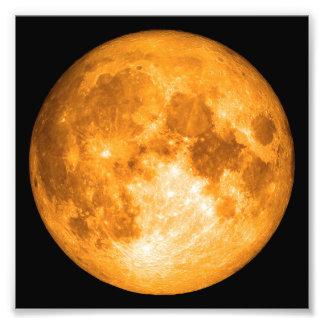 orange full moon photo print