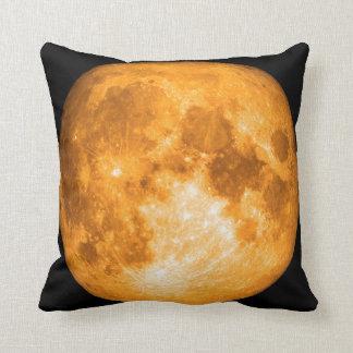 orange full moon pillow
