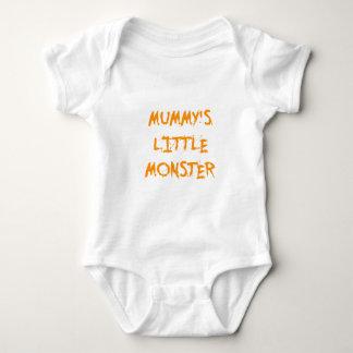 Orange Funny Mummy's Little Monster Halloween Tee Shirts