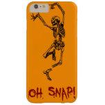 Orange Funny Skeleton Broken Leg Oh Snap