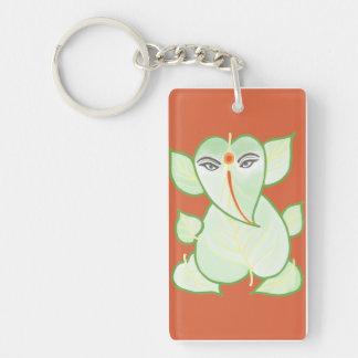 Orange Ganesh Key Chain