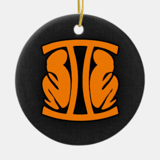 Orange Gemini Christmas Ornament