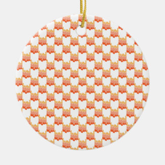 Orange Geo Ripple Round Ceramic Decoration