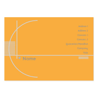 Orange Geometric - Chubby Pack Of Chubby Business Cards