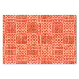 Orange Geometric Pattern Tissue Paper