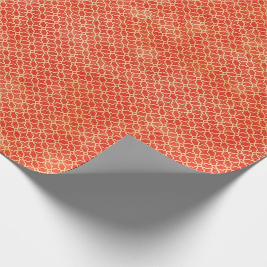 Orange Geometric Pattern Wrapping Paper