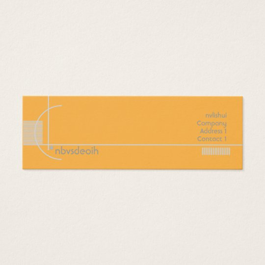 Orange Geometric - Skinny Mini Business Card