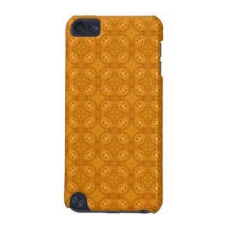 Orange geometric wood pattern iPod touch (5th generation) case