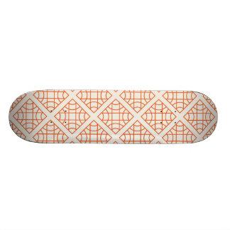 Orange geometrical retro vintage patterns skate decks