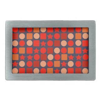 Orange Geometrics on Belt Buckle