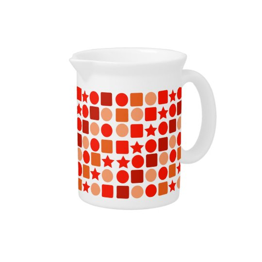 Orange Geometrics on Drink Pitcher