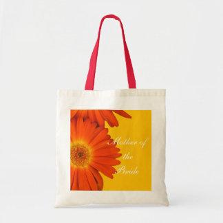 orange gerbera daisy flowers budget tote bag