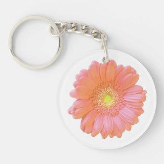 Orange gerbera daisy key ring