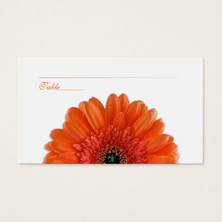 Orange Gerbera Daisy Special Occasion Place Cards