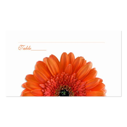 Orange Gerbera Daisy Special Occasion Place Cards Business Card Templates