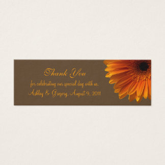 Orange Gerbera Daisy Wedding Favor Tag