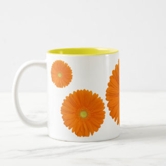 orange gerbera flower mug
