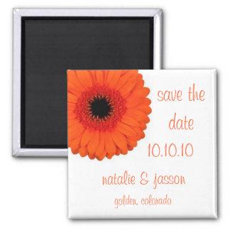 Orange Gerbera  Save the Date Magnet