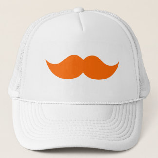 Orange Ginger Red Hair Mustache Trucker Hat
