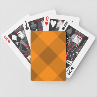 Orange Gingham Pattern Poker Deck
