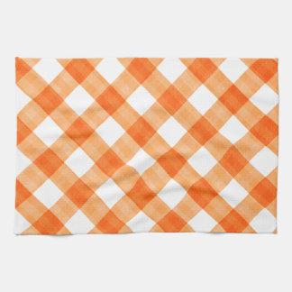 Orange Gingham Tea Towel