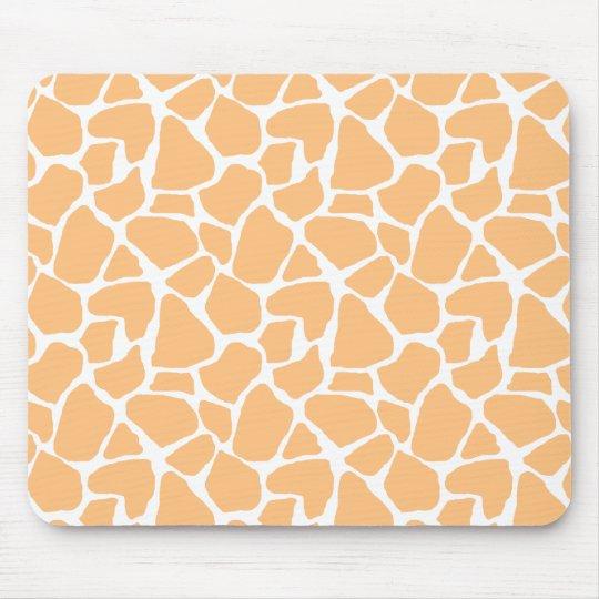 Orange Giraffe Print Mousepad