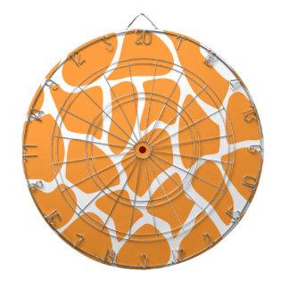 Orange Giraffe Print Pattern. Dartboard
