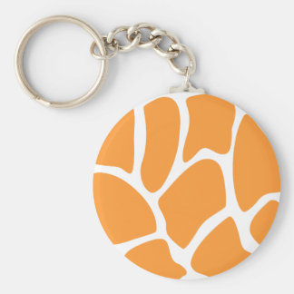 Orange Giraffe Print Pattern. Keychain