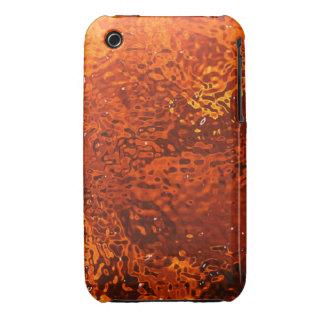 Orange Glass Design Blackberry Curve case