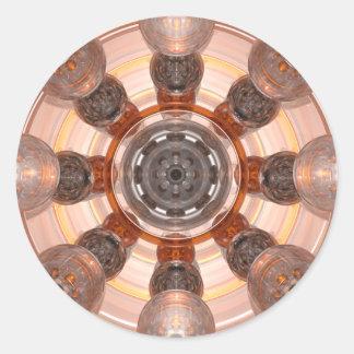 Orange Glass Round Sticker