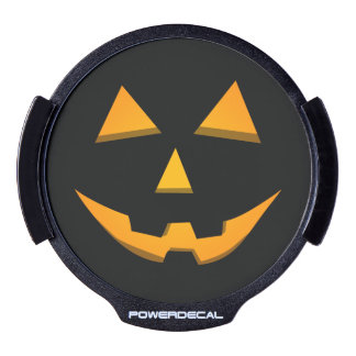 Orange Glow Halloween Jack-O-Lantern LED Window Decal