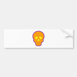 Orange Glow Skull Bumper Stickers