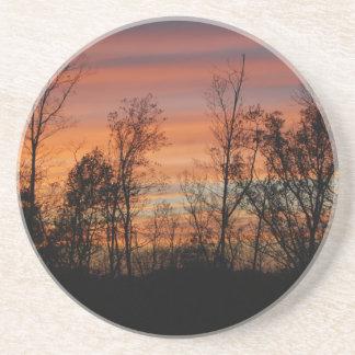 Orange Glow Sunset coaster