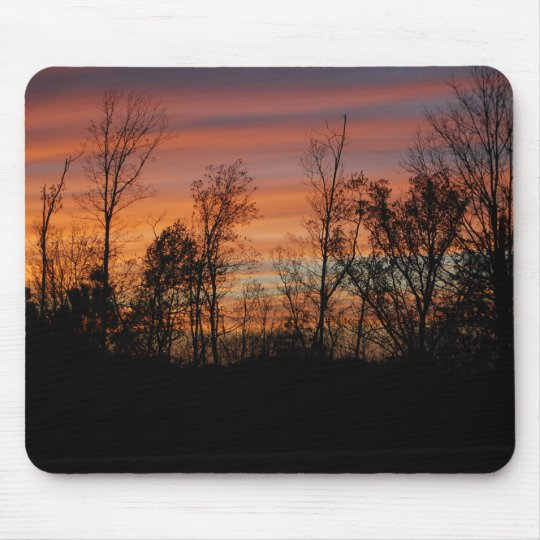 Orange Glow Sunset mousepad