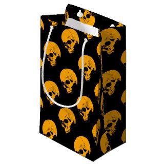 Orange Glow Vampire Skull Small Gift Bag