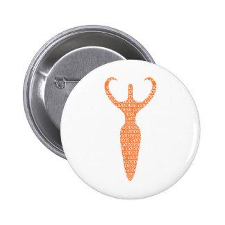 Orange Goddess Button