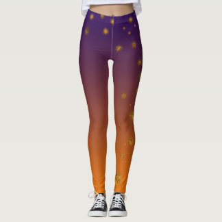Orange Gold Custom Leggings