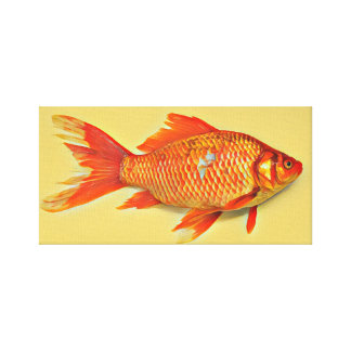 Orange Goldfish Painting Canvas Print