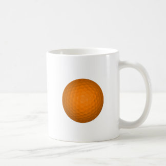 Orange Golf Ball Basic White Mug