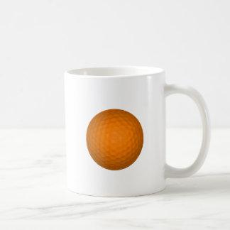 Orange Golf Ball Basic White Mug