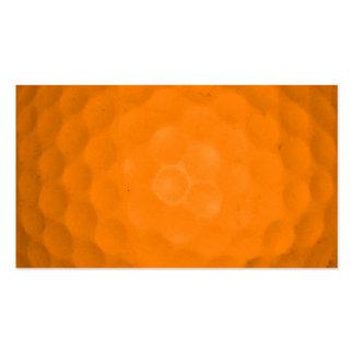 Orange Golf Ball Business Card Template