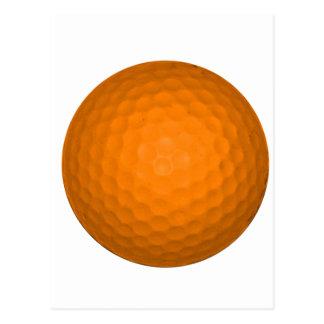 Orange Golf Ball Postcards