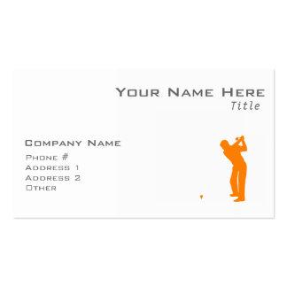 Orange Golf Business Card